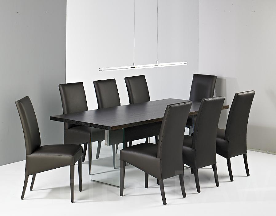 esstisch mooreiche mit glasbeinen 8 st hle esstisch. Black Bedroom Furniture Sets. Home Design Ideas