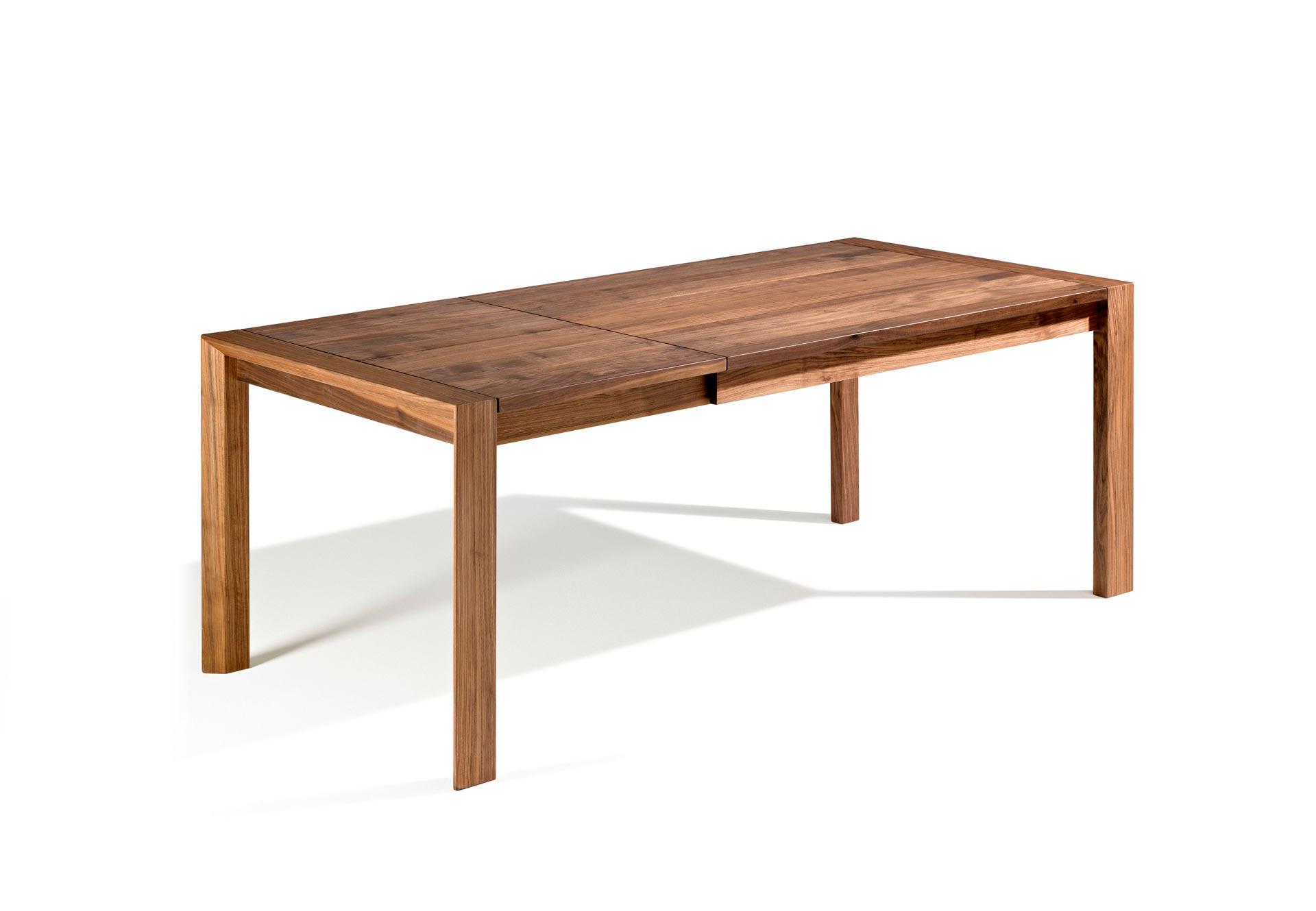 Esstisch Baumkante ausziehbar mit Vollholzfüßen 3 M